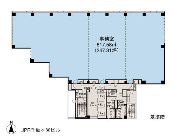 基準階(JPR千駄ヶ谷ビル 2~8階階)