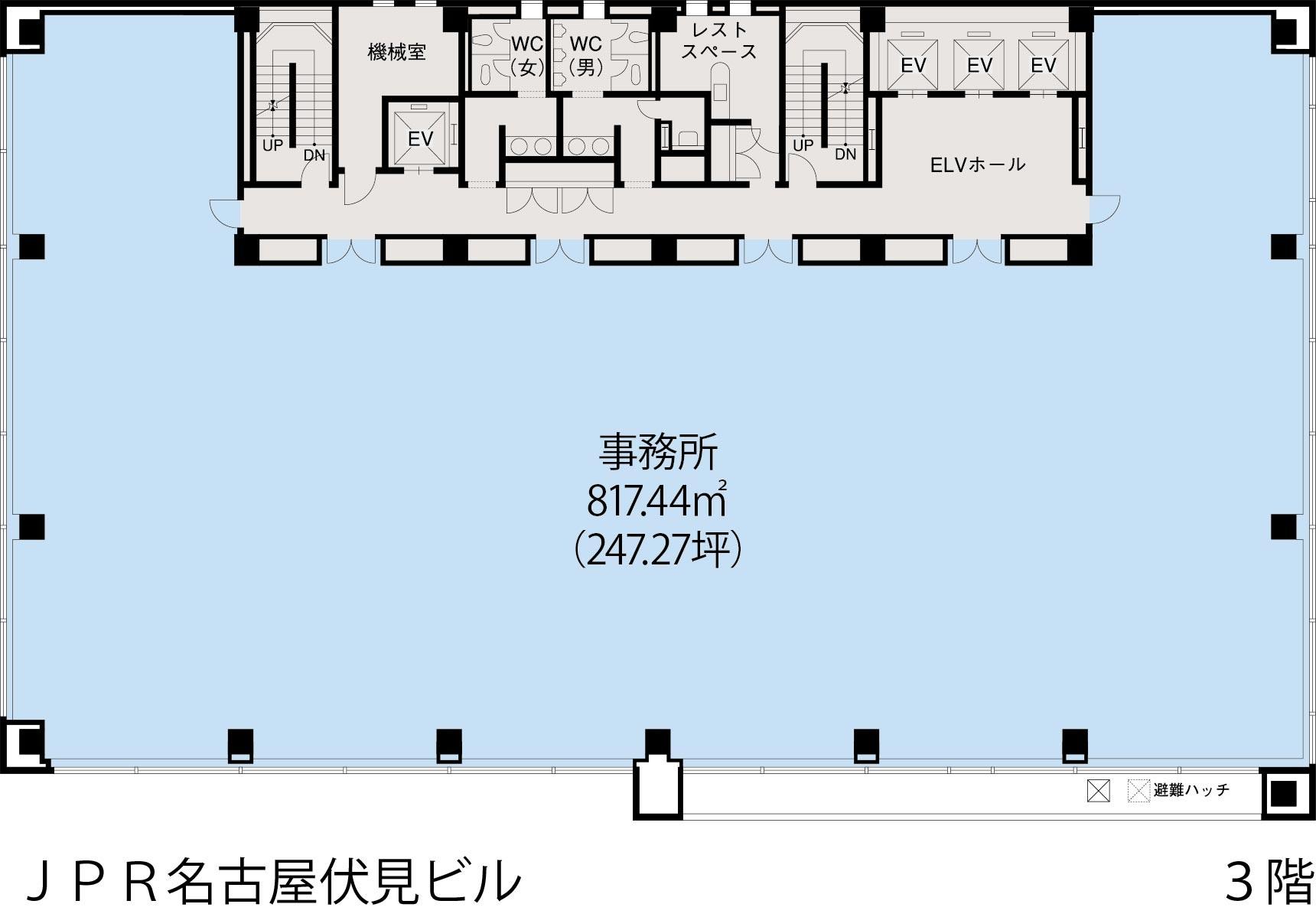 基準階(JPR名古屋伏見ビル3~9階階)