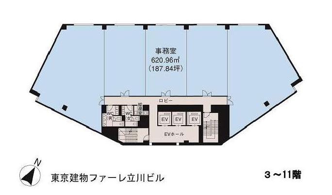 基準階(東京建物ファーレ立川ビル 3~11階階)
