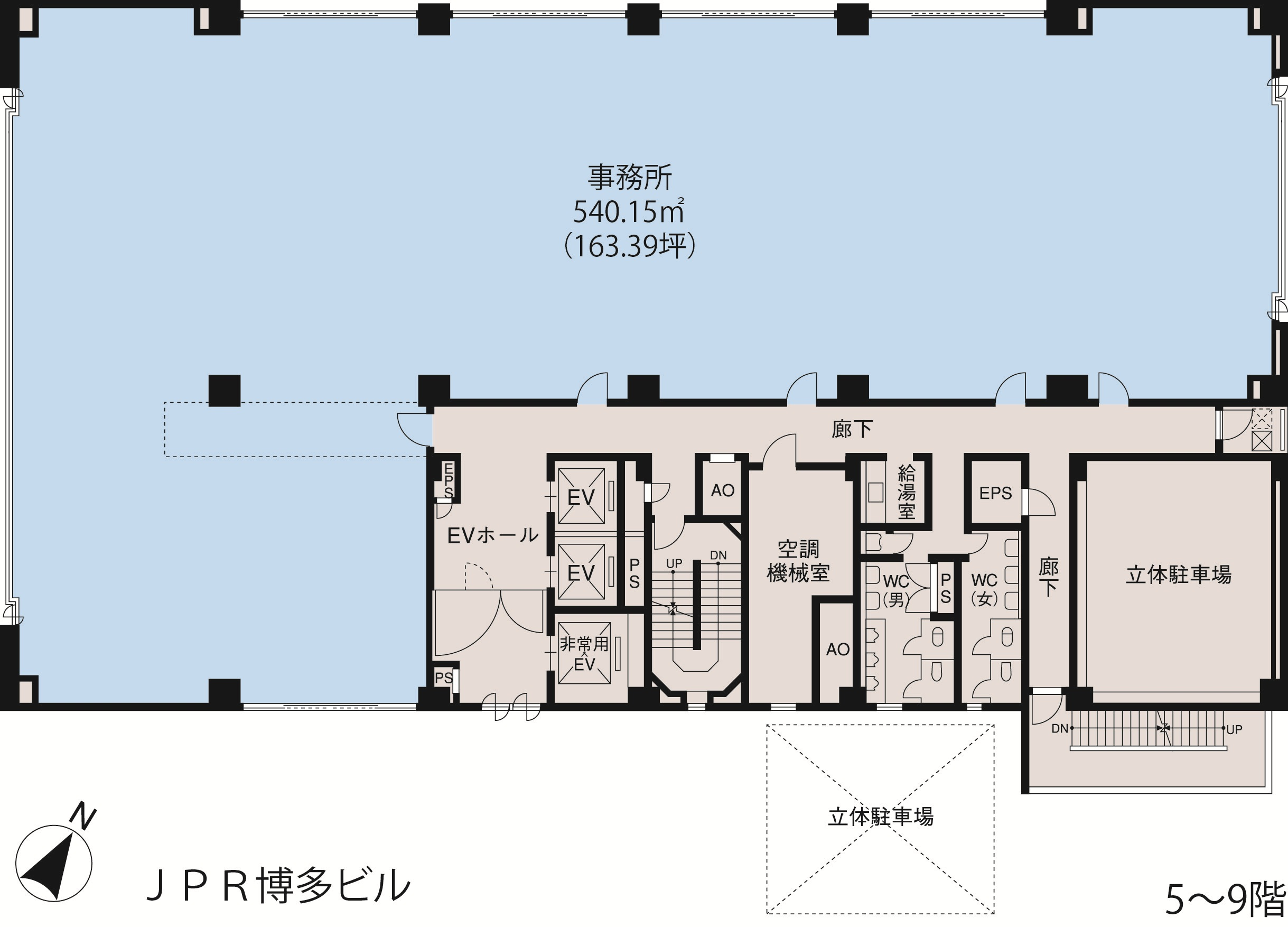 基準階(JPR博多ビル5~9階階)