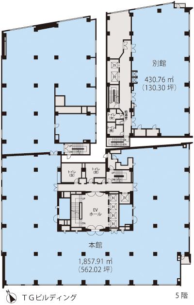 基準階(TGビルディング5階階)