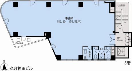 基準階(久月神田ビル5階階)