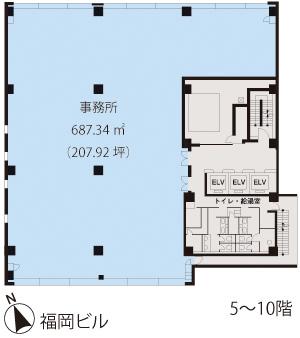 基準階(福岡ビル5~10階階)