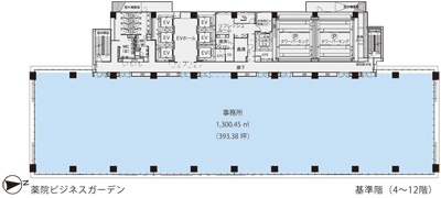 基準階(薬院ビジネスガーデン4~12階階)