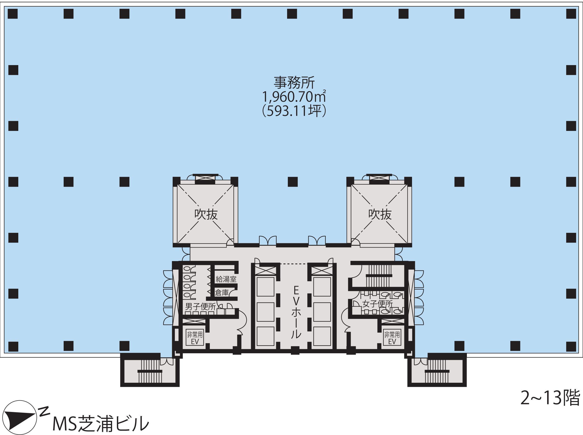 基準階(MS芝浦ビル2~13階階)