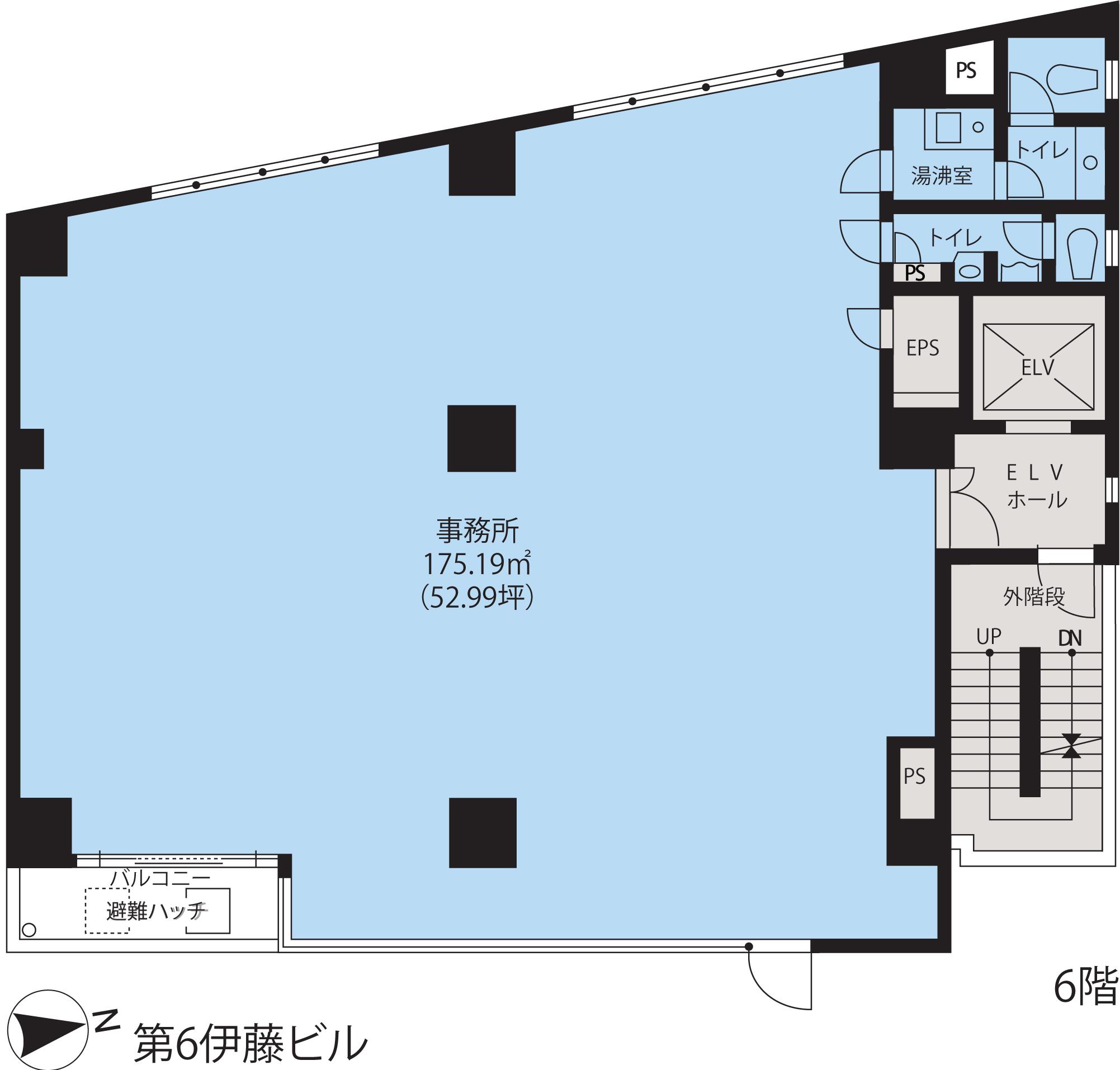 基準階(第6伊藤ビル3~7階階)