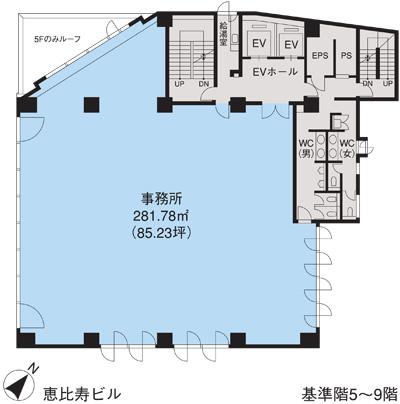 基準階(恵比寿ビル5~9階階)