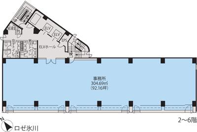 基準階(ロゼ氷川2~6階階)