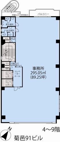 基準階(菊邑91ビル4~9階階)