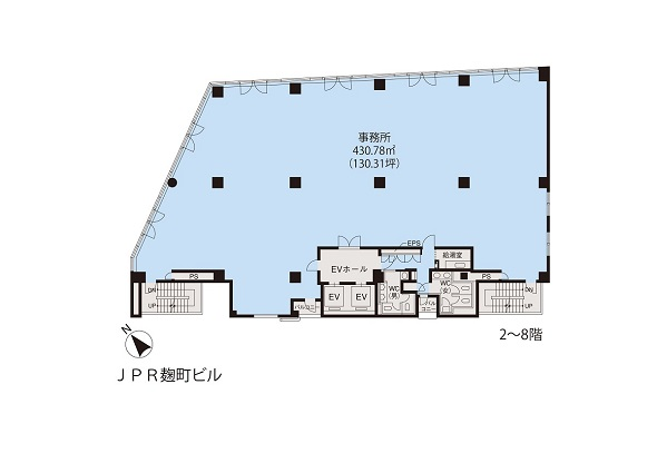 基準階(JPR麹町ビル2~8階階)